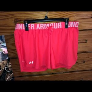 Vibrant pink Under Armour shorts
